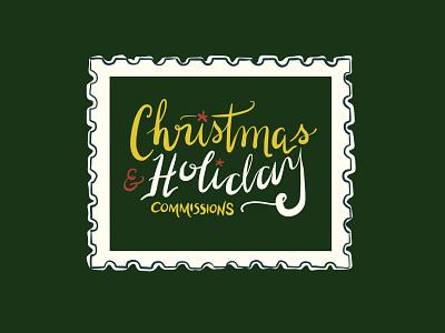 30/100 adobefresco illustration 100dayproject postage stamp holidays christmas