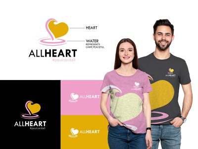 All Heart Logo Design corporate creative identity clean logotype graphicdesign premium tshirts tshirt classy peaceful calm music heart branding design branding logodesign logo