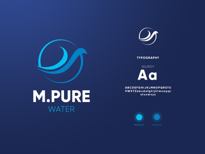 M.Pure Water identity branding identity branding design branding logo design logomark icon logotype swimming pool blue logo water