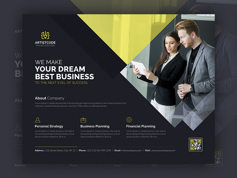 Flyer Design marketing flyer finance design creative corporate consulting company clean business agency ad