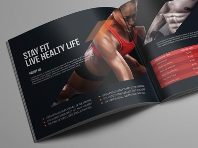 Fitness Square Bifold Brochure By Designereshad  Dribbble