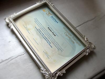 Certificate Mockup luxurious logo graphic design certify award fitness spa identity branding certificate