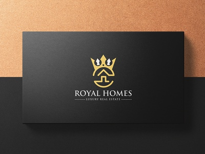 Royal Homes Logo home real estate identity luxurious luxury royal branding design logo