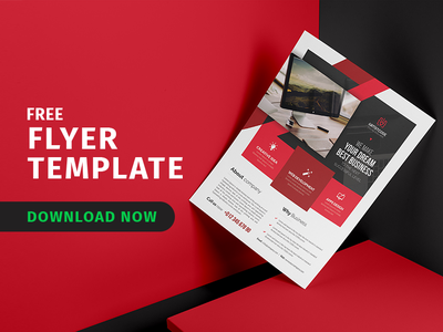 Free Flyer Template poster creative template psd free mockup mockup free download business download flyer freebie free