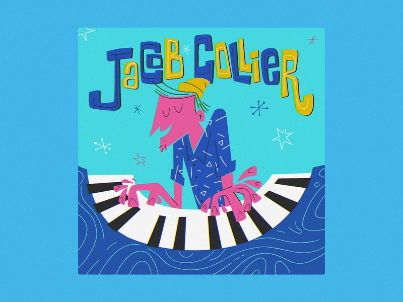 Jacob Collier design colorful digital illustration jacob collier illustration