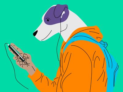 Dog illustration descomplica study studying student illustration dog