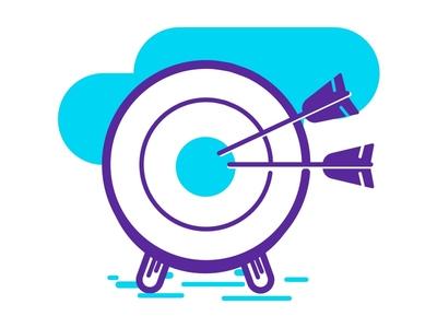 Target Icon - Descomplica Landing geometric outline monochromatic colorful color target landings asset icondesign ui