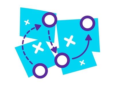 Tactics Icon - Descomplica Landing geometric outline monochromatic colorful color tactics landings asset design icondesign ui icon