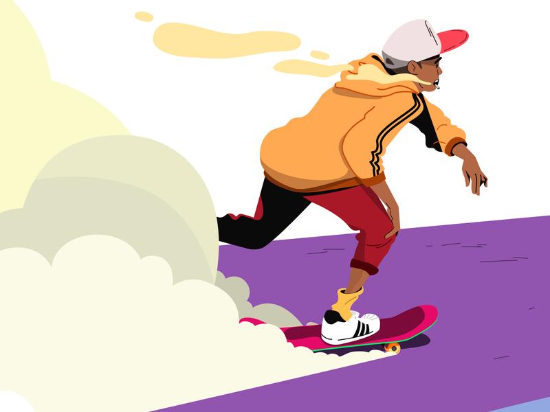Skater character design sk8 skate artdigital artdirection colorful illustration