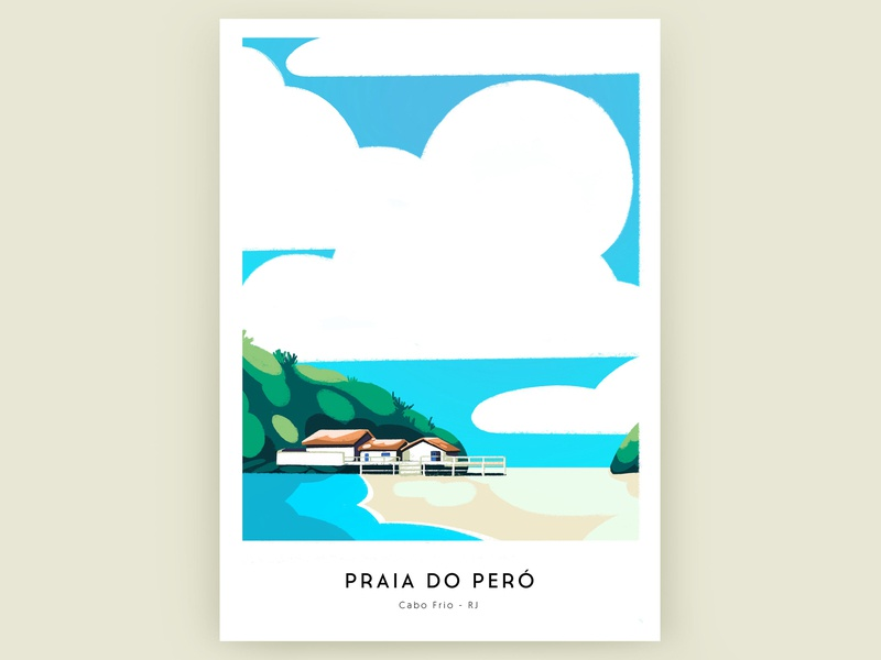 Beach poster sea graphic  design design procreate app procreate poster color colorful illustration