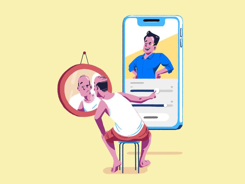 Fill out your profile colorful branding ui  ux mobile app mobile ui onboarding screen dating app profile app digital illustration digital design interaction uidesign ui