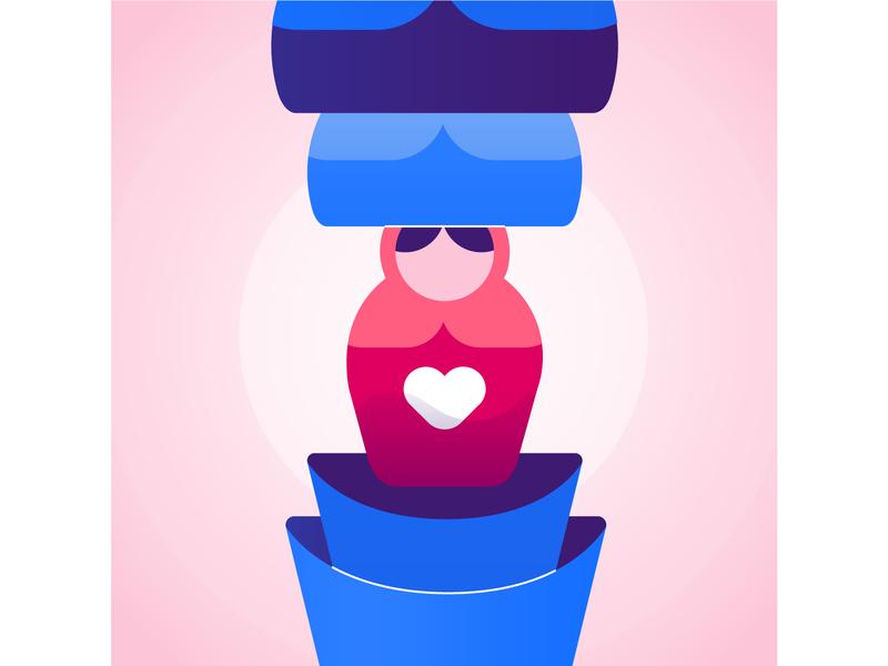 Reflection colorful vector branding asset design meditation mobile design mobile digital illustration illustration app design app