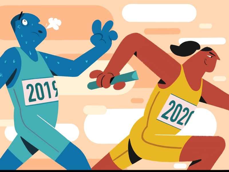 New year's challenge procreate digital illustration design colorful illustration