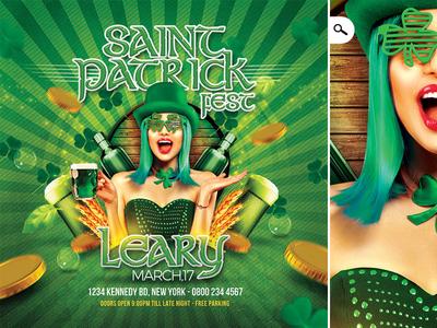 Saint Patrick Irish Day Party Flyer