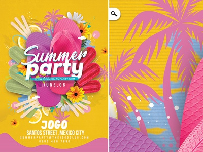 Seasonal Summer Party tropical print club vacation holidays break beach bash party spring summer seasonal