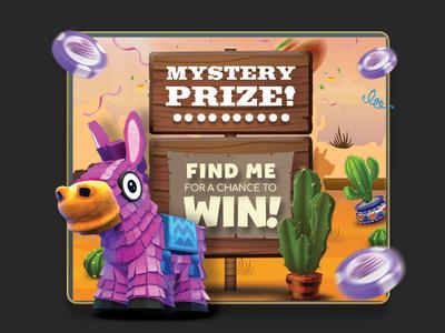 lucky pinata game card money mystery prize mexican gambling chips bonus player videogame card game piñata lucky