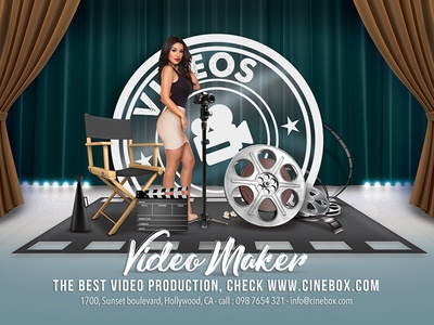 Movie Studio Video Production Flyer reel theater photography stage videomaker flyer studio direction production cinema film movie