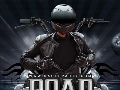 Road Rash Biker Party Flyer eve event road dj club themed sound flyer party mechanics biker road rash