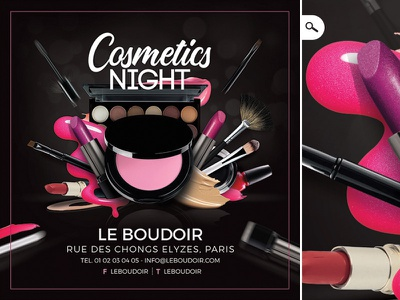 Cosmetic Night Shop Presentation Flyer beauty artist youtube business print eye flyer make up presentation shop night cosmetic