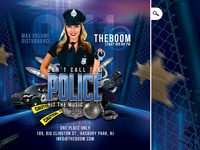 Themed Police Night club party Flyer cop music cosplay disguised event volume distrubance flyer party club night police themed
