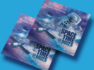 Space Time Flyer event dj music print exposition fair club party cosmos flyer time space