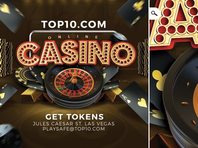 Online Casino Gambling Flyer stakes money slot machine playing chips roulette cards flyer casino gambling game online
