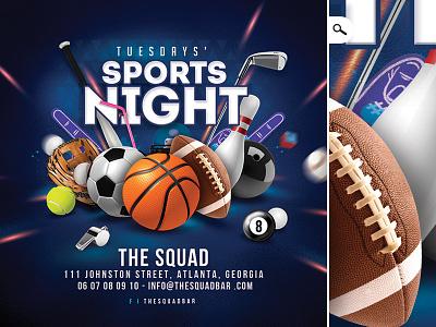 Bar Sport Unlimited Night Flyer game baseball basketball club soccer football night flyer sport unlimited pub bar
