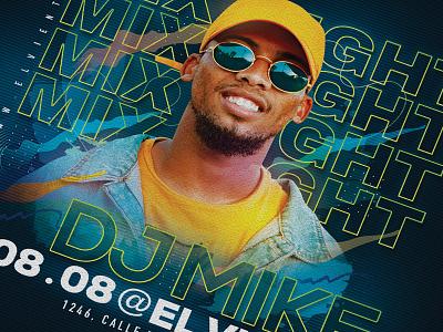 DJ Mix Night Club Party Flyer session beat party jam music eve event flyer club night mix dj