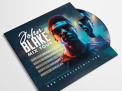 DJ Mix Tour Flyer template event night artist live performance party club session music flyer tour mix dj