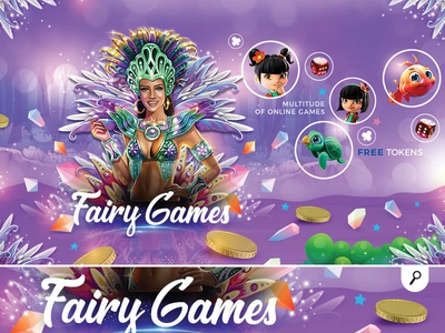 online fairy multi games banner sweet player banner money collection gambling children colorful online game fairy