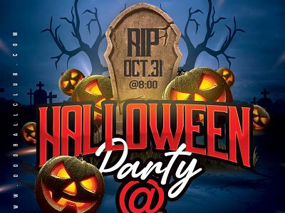 Halloween Night Club Party Flyer event bash celebration pumpkin spooky print flyer club party night halloween