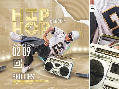 Hip Hop Workshop Flyer beat boombox flyer learning music rap class workshop dancing rnb hiphop hip hop