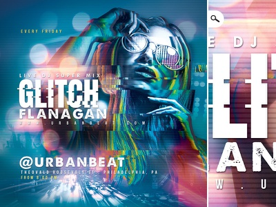 Dj Mix Night In Club Flyer party bash urban glitch eve event night music club flyer mix dj