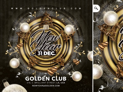 Nye / new year Party Flyer winter holidays eve event night bash club countdown celebration flyer party new year nye