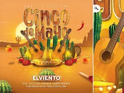 Mexico Cinco De Mayo Celebration Flyer club america print evening event cactus national day flyer celebration 5 de mayo cinco de mayo mexico