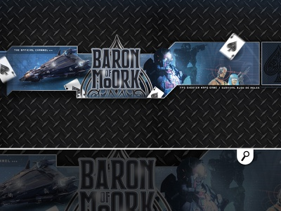 baron of moork youtube channel banner gamer survival rpg game shooter banner channel youtube player game gaming videogame baron of moork