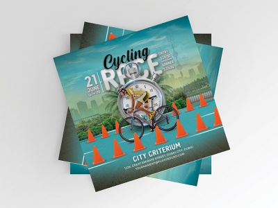 Cycling Race Flyer club olympics cycling criterium design bicycle sport competition race prize beat the clock cycler show download template amateur professional event bike