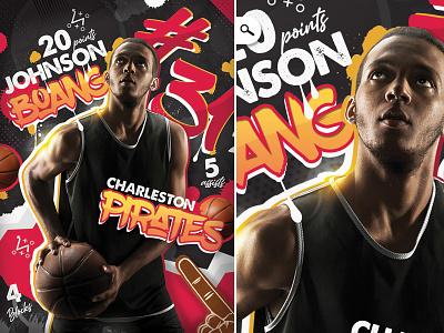 Basketball Player Record Flyer night flyer basketball stats sheet