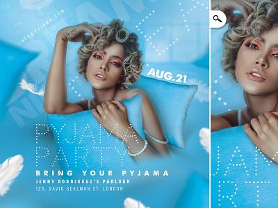 Pyjama Party Event Flyer club