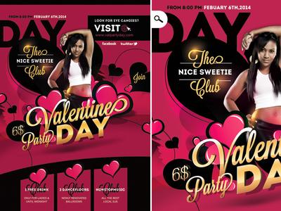 Flyer Valentine Party Day