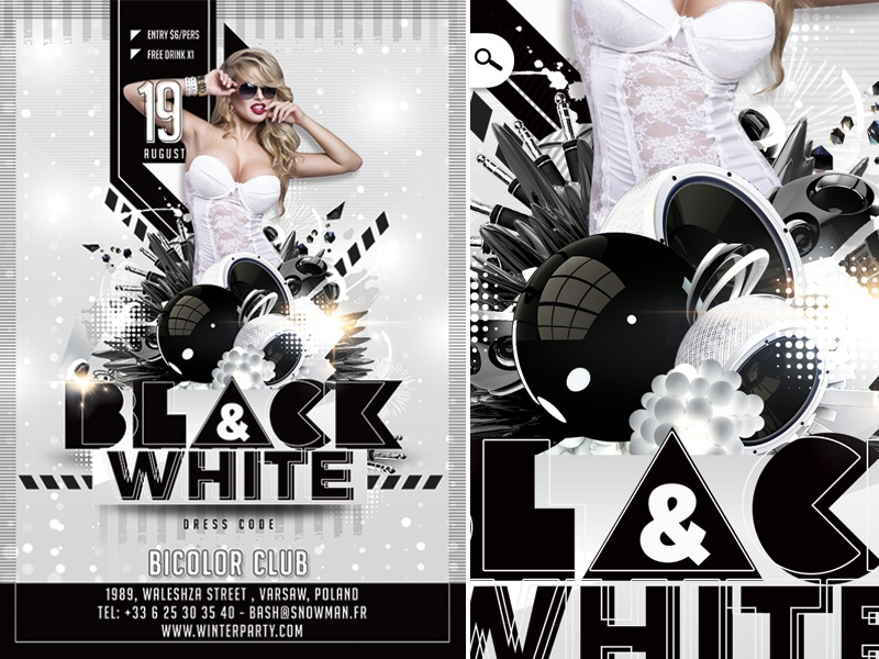 Black And White Party By N2n44 On Dribbble