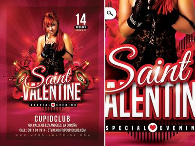 Saint Valentine Day Flyer 2017