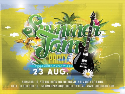 Summer Jam Party concert tropical exotic music holidays dj spring club party jam summer