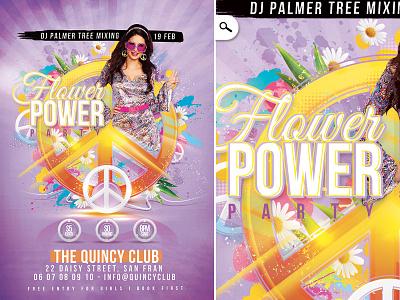Peace Party Flower Power seventies woodstock retro sixties festival fest club love power flower party peace