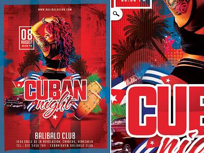 Cuban Night Party conga dance latina cuba celebration sound libre party club night national day cuban