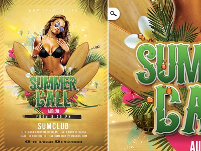 Exotic Summer Party bikini pool sound dj bash party club night call spring summer exotic