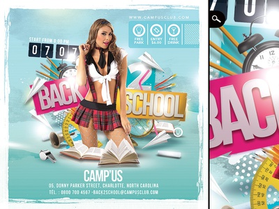 Squared Back To School Flyer high school dj college university holidays club print template flyer party back 2 school back to school