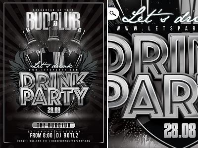 Classy Drink Party Ref cocktail design flyer bottle music dj nightclub night club party drink classy
