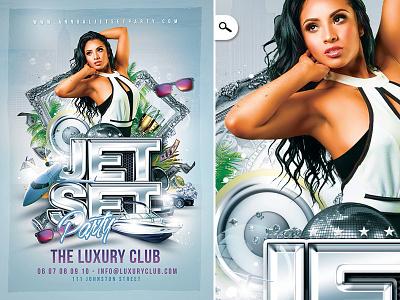 Jet Set Party Flyer Ref drinks dj night classy luxury high society vip print flyer club party jet set