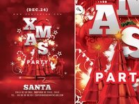 Red Xmas Flyer